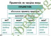 Апорна-аналiтычныя таблiцы па беларускай мове. Прыметнiк. (9 таблiц)