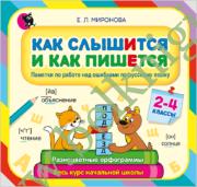 Русский язык. 2-4 класс. Как слышится и как пишется. Памятка по работе над ошибками.